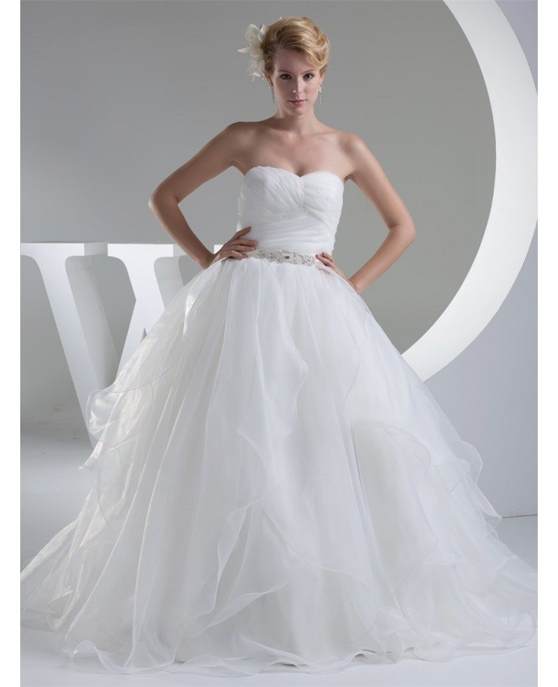 Organza Big Ballgown Wedding Dress with Crystals Bling #OPH1207 ...