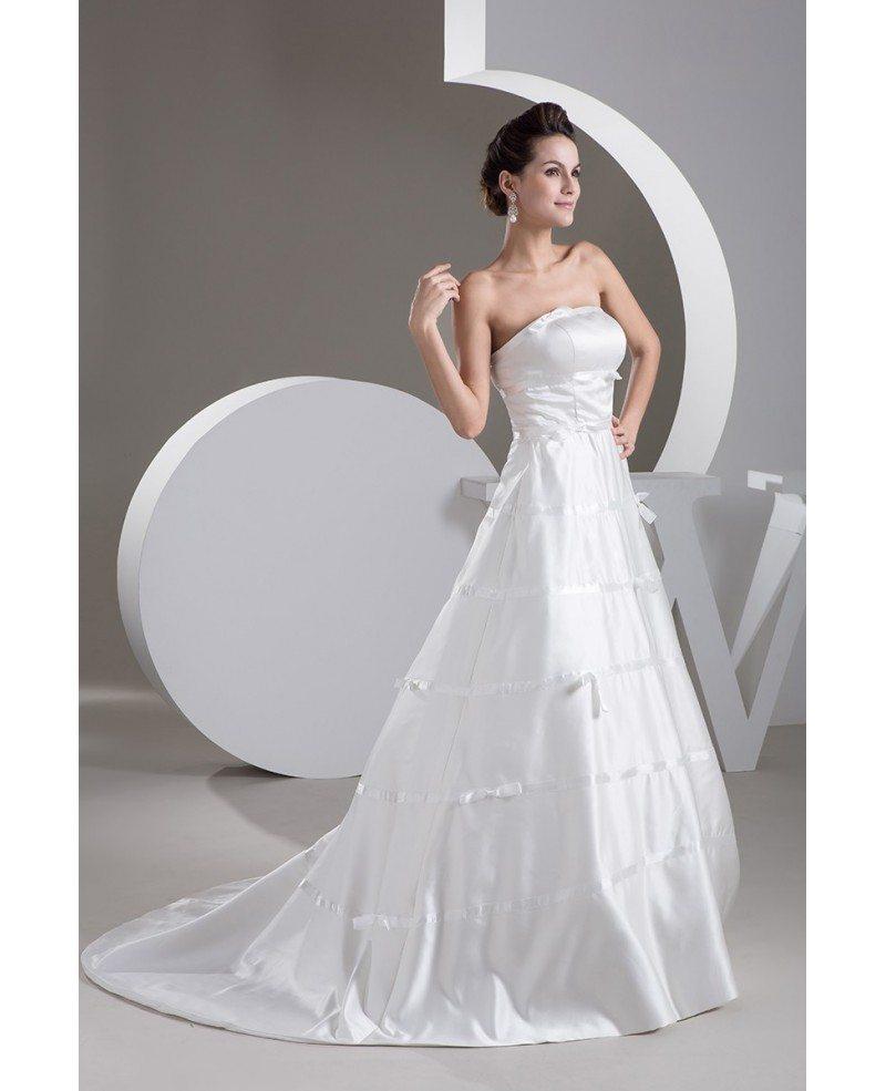 Strapless Strapless Aline Satin Custom Wedding Gown Corset Back ...