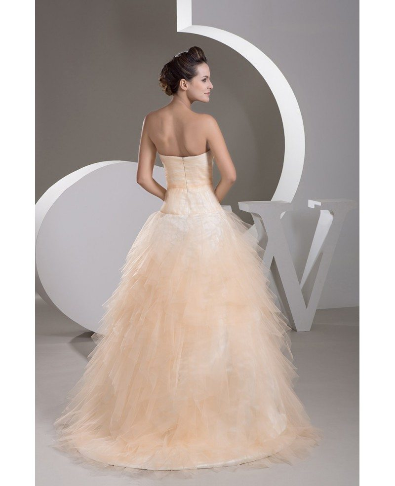 Orange Gowns Wedding: Tulle Charming Sweetheart Orange Color Ballgown Bridal