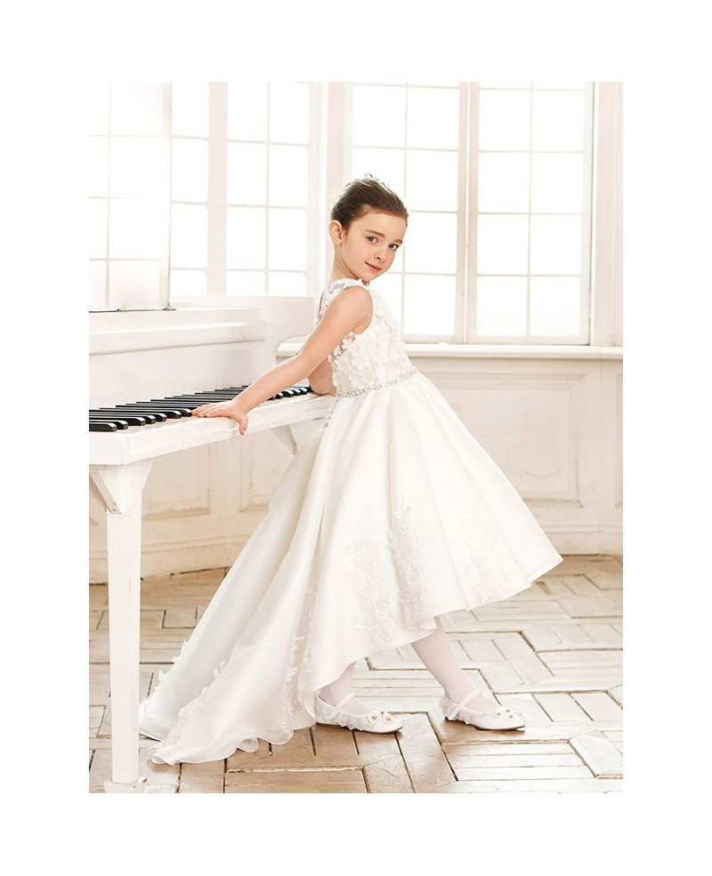 Gorgeous Lace Tulle Wedding Flower Girl Dress Short In