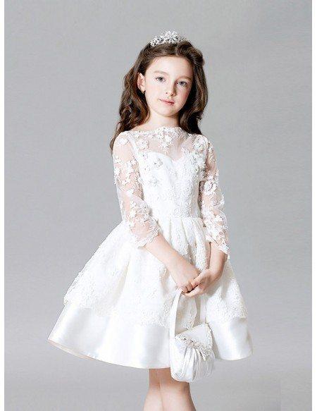 White Satin Short Dress