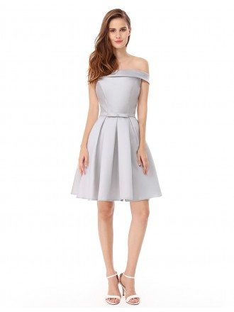 A-line Strapless Short Party Dress With Ruffle