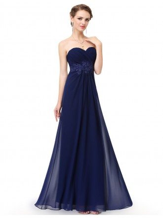 A-line Sweetheart Chiffon Floor-length Bridesmaid Dress With Lace