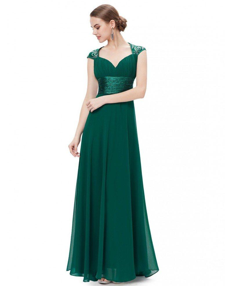A line v neck chiffon floor length bridesmaid dress with cap a line v neck chiffon floor length bridesmaid dress with cap sleeves ombrellifo Images