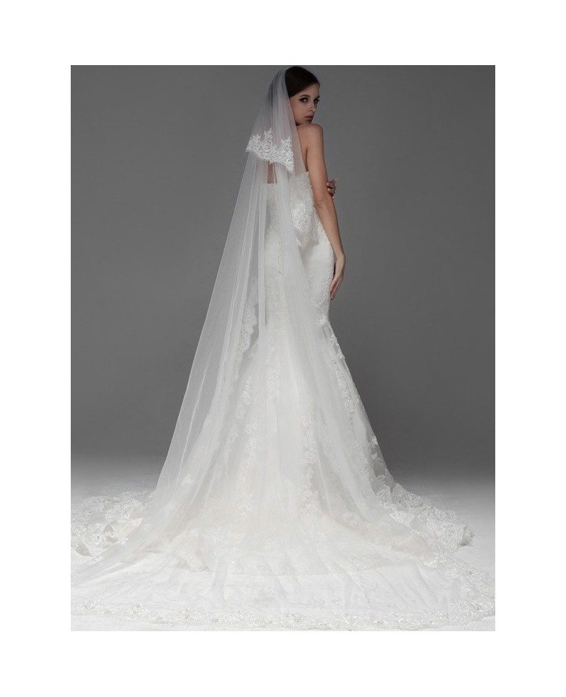 Perfect Mermaid Fitted Full Lace Sweetheart Wedding Dress