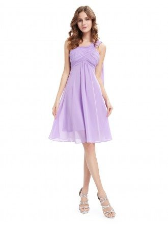 A-line One-shoulder Knee-length Bridesmaid Dress With Ruffle