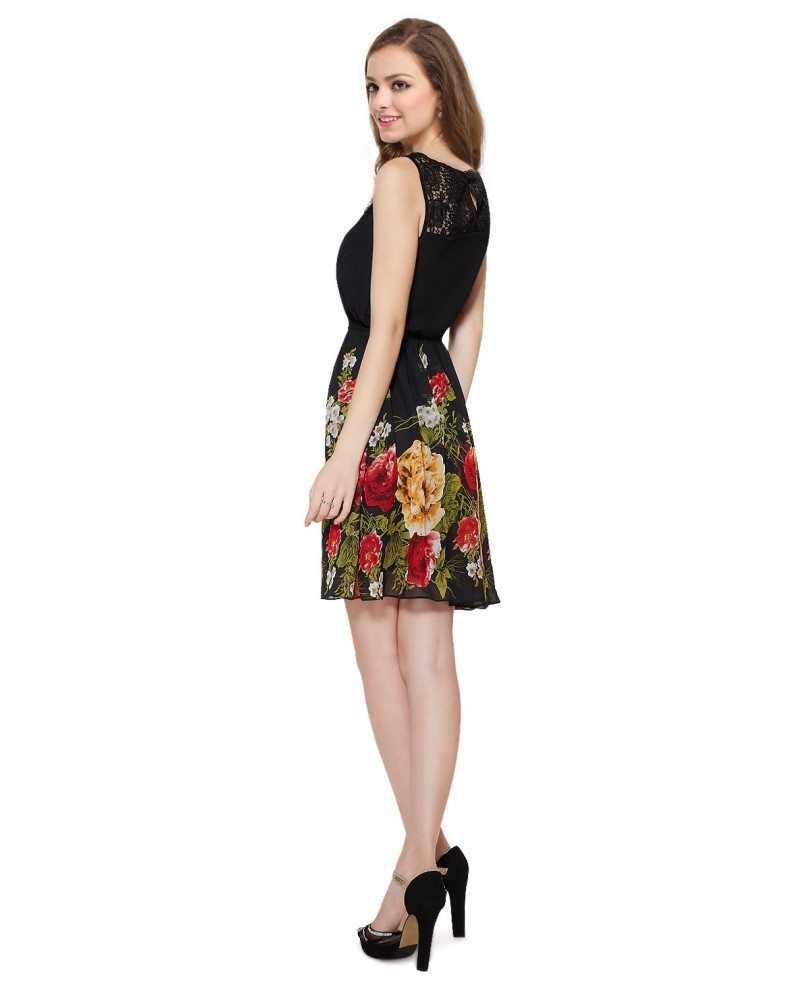 Flower Print Casual Dresses
