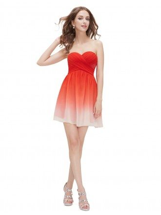 A-line Sweetheart Short Bridesmaid Party Dress