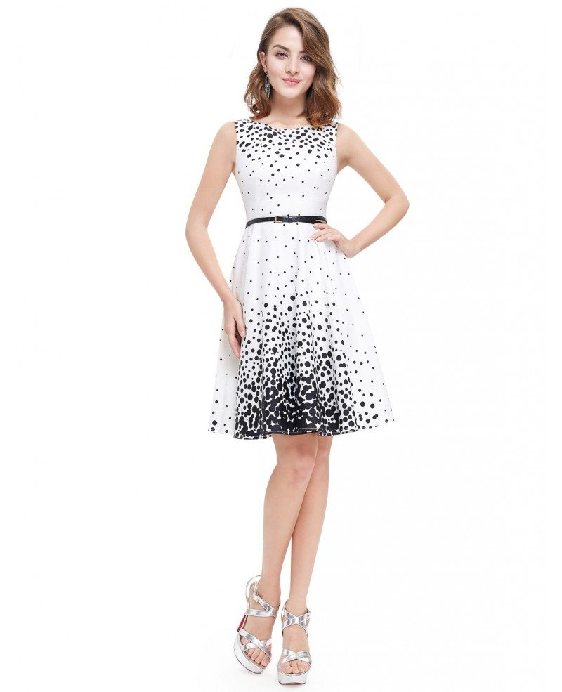 A-line Round Neck Knee-length Wedding Guest Dress