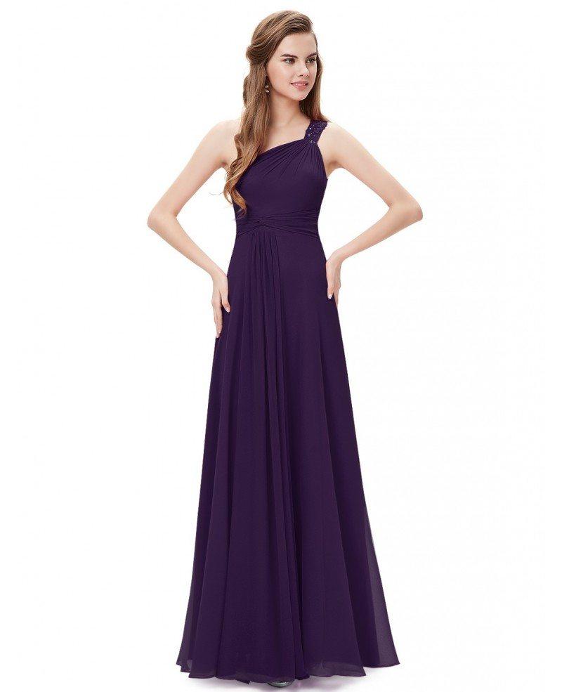 A line one shoulder floor length bridesmaid dress he08034aq 44 a line one shoulder floor length bridesmaid dress ombrellifo Images