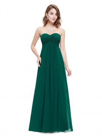 Empire Sweetheart Floor-length Pleated Bridesmaid Dress