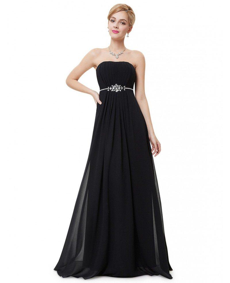 Empire Strapless Floor-length Formal Dress With Rhinestone ...