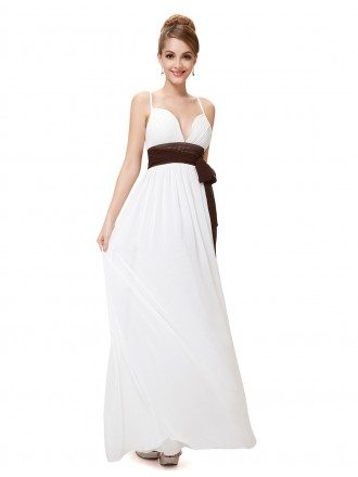 A-line V-neck Floor-length Bridesmaid Dress With Sash