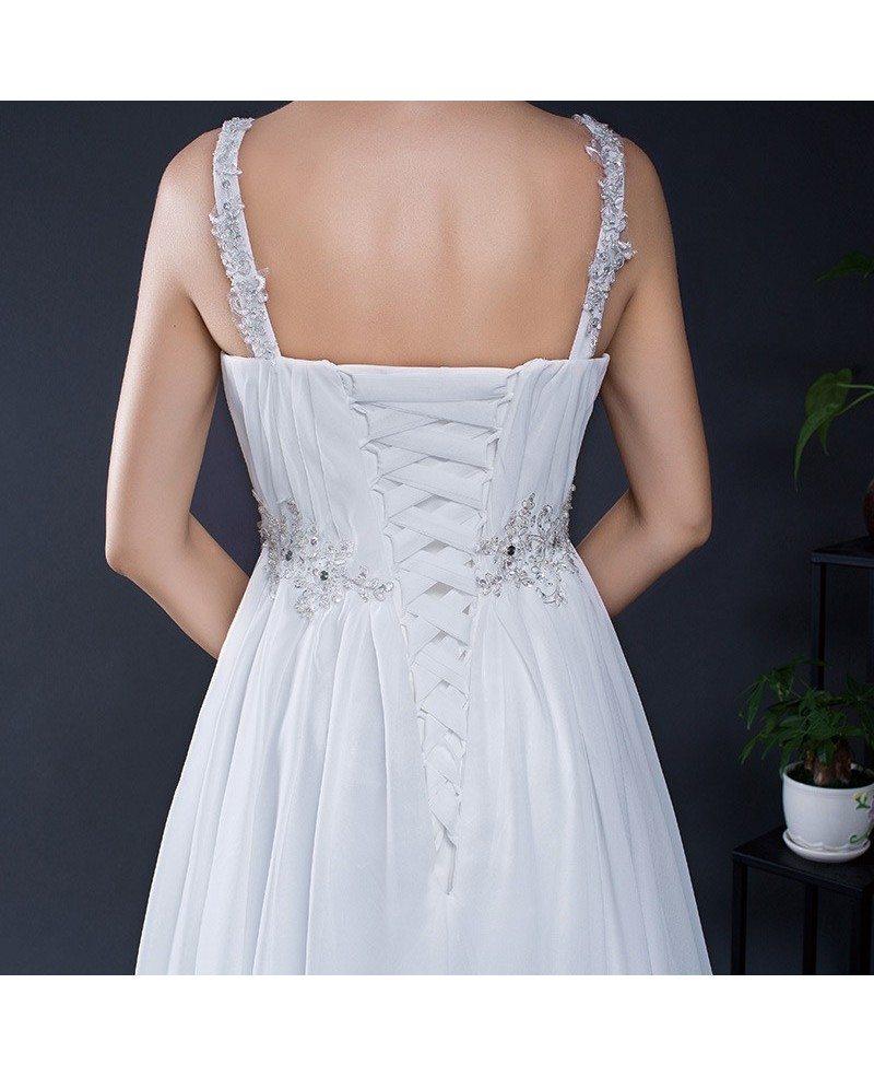 Empire Wedding Dress: Simple Empire Waist Pregnant Wedding Dress For The Beach