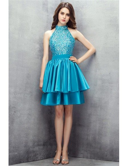 Short Turquoise Prom Dresses