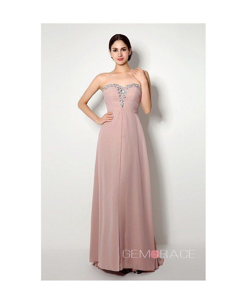 Sheath Sweetheart Floor Length Bridesmaid Dress C20249