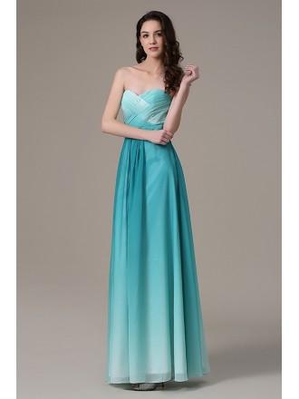 A-line Sweetheart Chiffon Floor-length Bridesmaid Dress