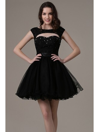 Chic A-line Sweetheart Short Prom Dress With Open Back