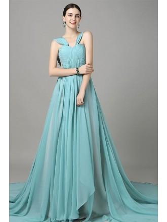 Formal Ball-gown Sweetheart Chiffon Chapel Train Wedding Dress
