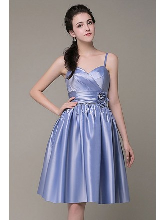 A-line Sweetheart Satin Short Formal Dress