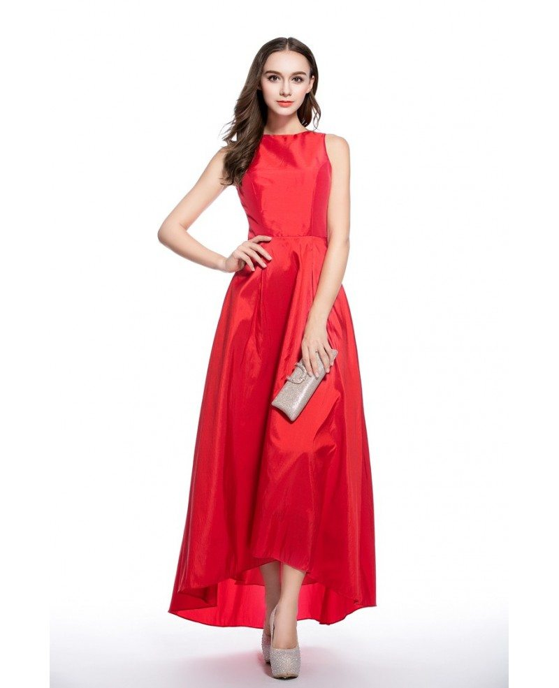 Red a line scoop neck high low formal dress ck546 53 gemgrace red a line scoop neck high low formal dress ombrellifo Gallery
