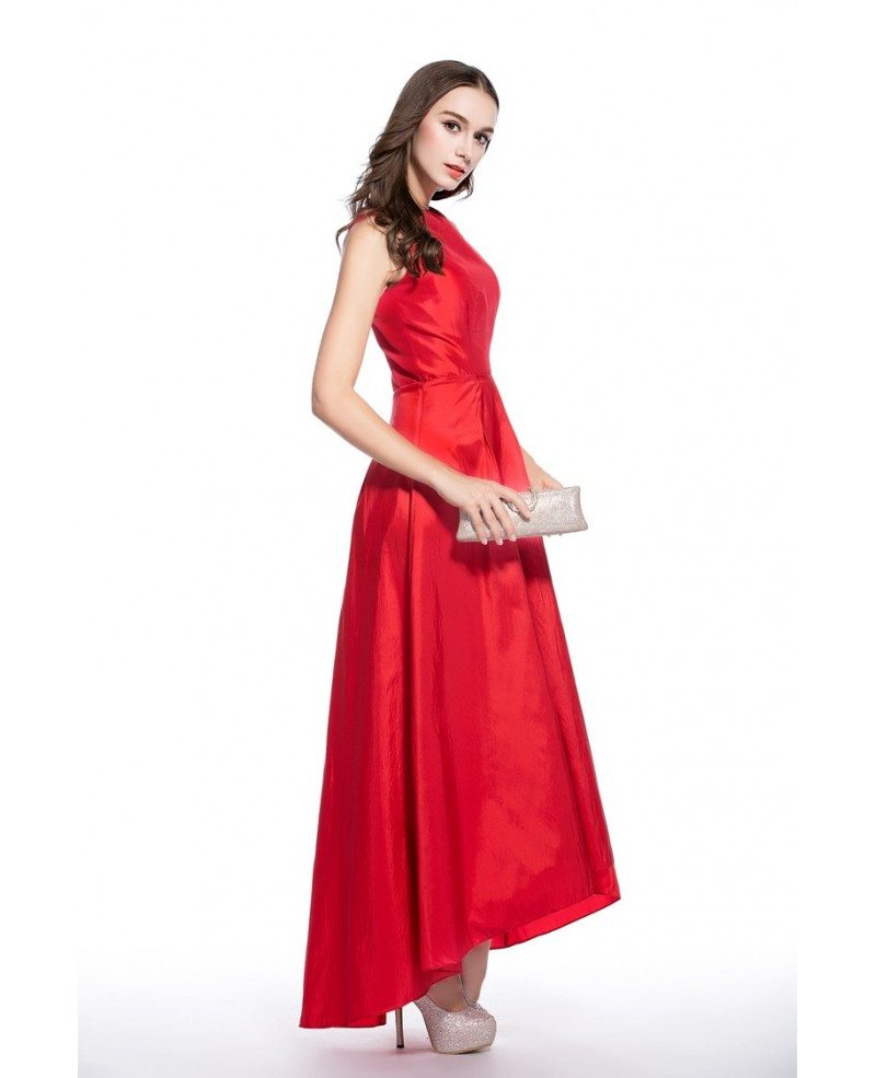 Red a line scoop neck high low formal dress ck546 53 gemgrace red a line scoop neck high low formal dress ombrellifo Choice Image