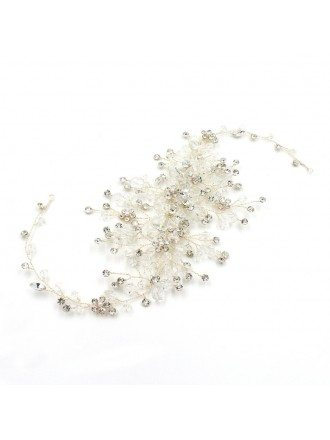 Luxury Handmade Crystals Headpiece Hair Jewelry for Brides