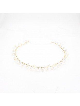 Simple White Shell Flower Summer Wedding Headband