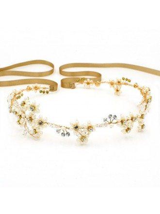 Fresh Water Pearls Headband Wedding Headpieces