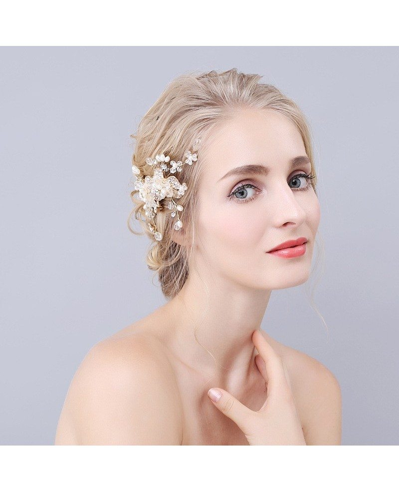 Flower Wedding Headpieces: Floral Wedding Hair Comb Bridal Headpieces