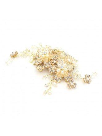Floral Wedding Hair Comb Bridal Headpieces