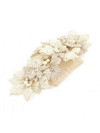 Imitation Pearls Wedding Hair Comb for Brides