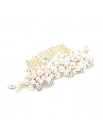 Imitation Pearls Wedding Hair Comb