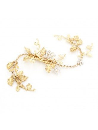 S-shape Twigs Gold Color Wedding Headpieces