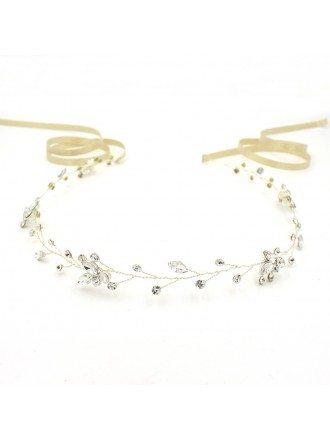 Simple Rhinestone Headband for Brides