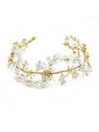 Luxury Handmade Crystals Wedding Headband Tiara