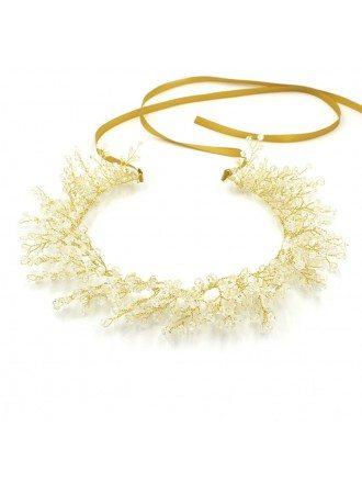 Handmade Crystal Headband Ribbon for Brides