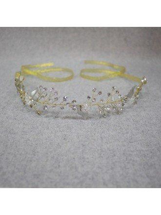 Best Leaf Shape Crystals Bridal Headband Hair Jewelry