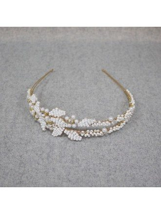 Grace Imitation Pearls Bridal Hairband Jewelry