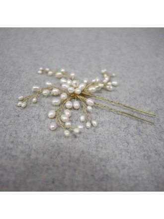 Gorgeous Pearls Wedding Hairpins for Brides