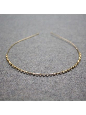 Simple Crystal Wedding Hairband in Gold Color