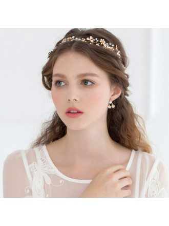 Wedding Hairband Tiara in Gold or Silver Color