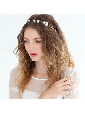 Imitation Pearls Bridal Headband