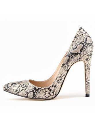 Serpentine Patent-Leather Stiletto Closed Toe Pumps