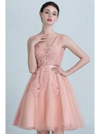 Gorgeous Lace and Tulle A-line Short Party Dress