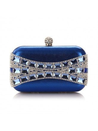 Satin Minaudiere with Rhinestone Style