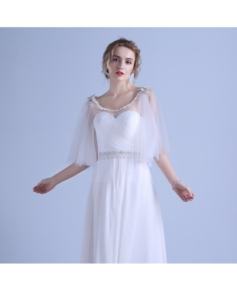 scoop neck wedding dress a line elegant a line scoop neck floor length chiffon wedding