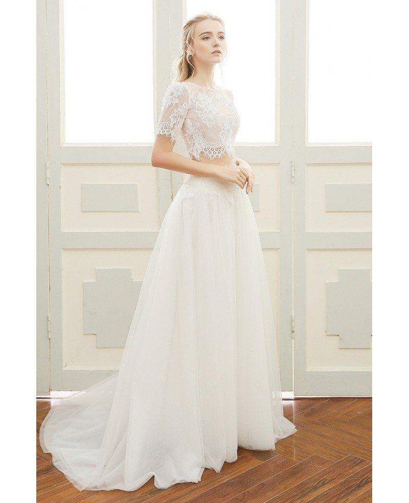 A-line Beach Wedding Dress Boho Sweetheart Floor-length