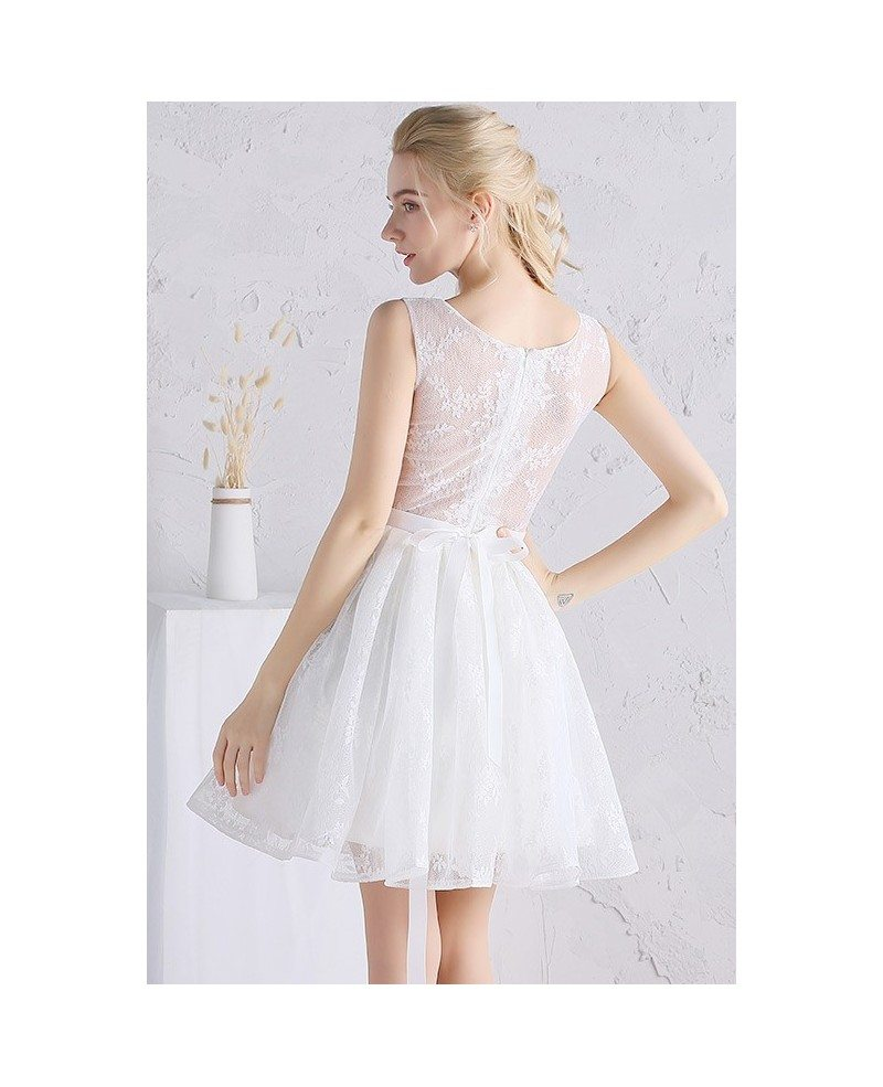 scoop neck wedding dress a line a line tulle short wedding dresses beach scoop neck short
