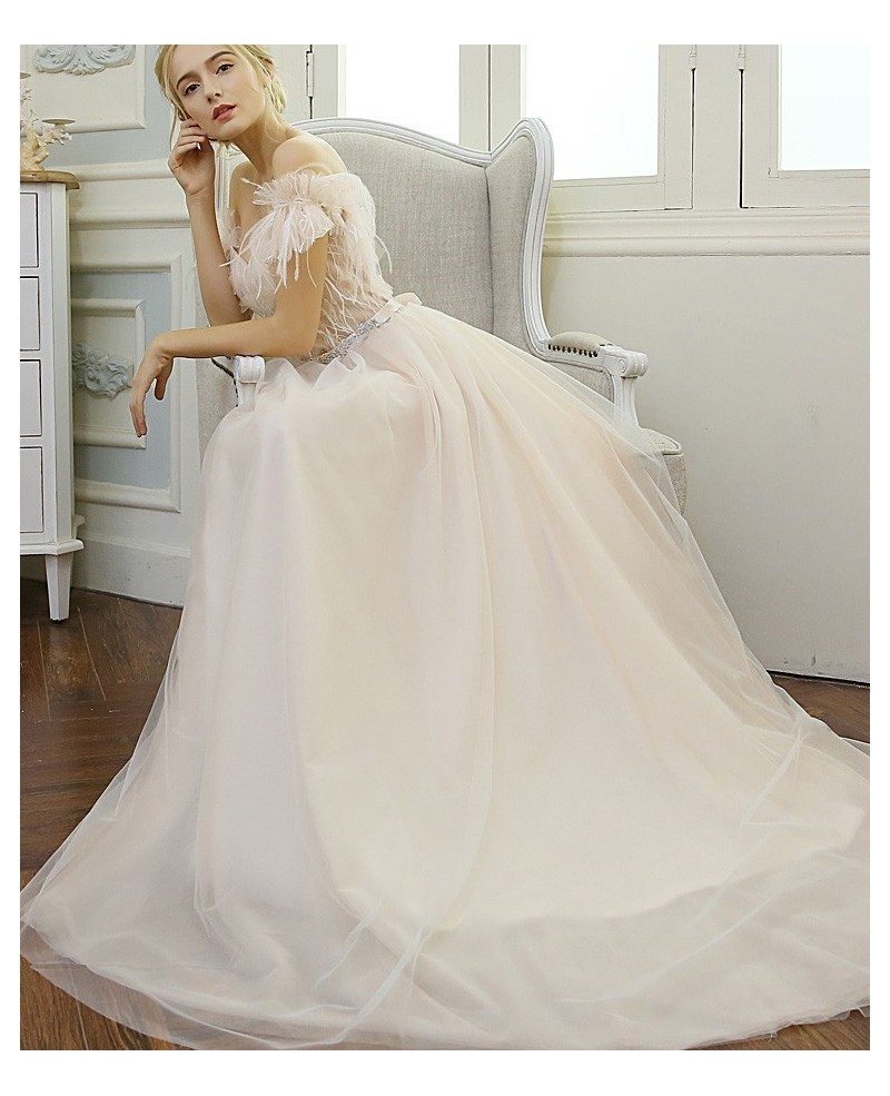 Sexy a line sweetheart floor length tulle wedding dress for A line sweetheart tulle wedding dress